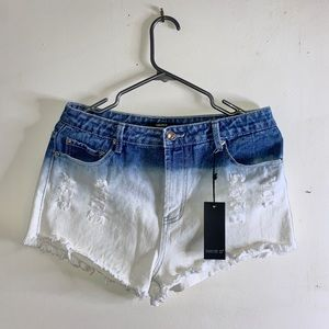 Forever 21 ombré denim shorts